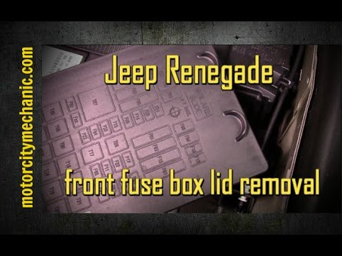 Jeep Renegade Front Fuse Box Lid Removal