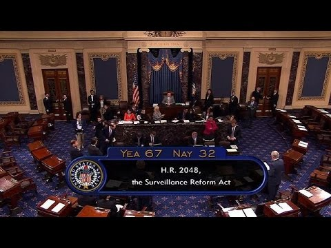 US Congress curbs NSA surveillance, sends bill to Obama