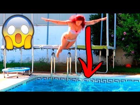 planchazo extremo y el mejor clavado en la piscina