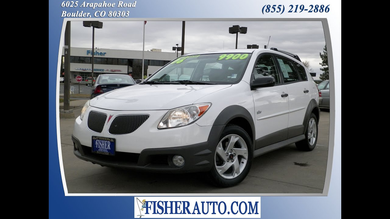 2006 pontiac vibe white 8 900 boulder colorado. Black Bedroom Furniture Sets. Home Design Ideas