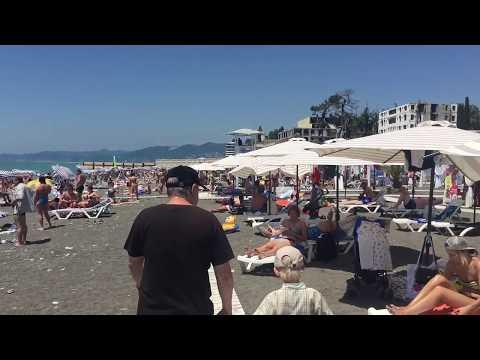 Погода в Сочи +30. Пляж Ривьера. Отдых в Сочи онлайн 2017. Приезжайте отдыхать! 26.06.2017