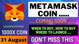 ⚠️ Metamask Coin  Best Cryptocurrency Today ⚠️ Metamask Launching Its Own Cryptocurrency • Altcoins
