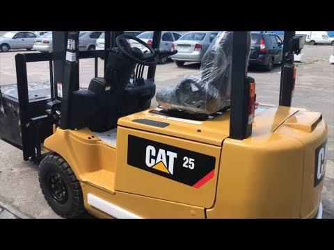 Электропогрузчик CAT 4-опорный EP25CA1  (Япония). Обзор, преимущества, особенности, эксплуатация