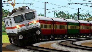 Download High Speed TVC Rajdhani Express of Indian Railways || 140 km/hr Train Journey Indian Train Simulator