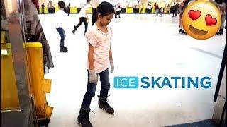 LIBURAN SERU 💖 Jessica Belajar ICE SKATING Sekali Nyoba Langsung Bisa 💖 Mainan Anak Let's Play