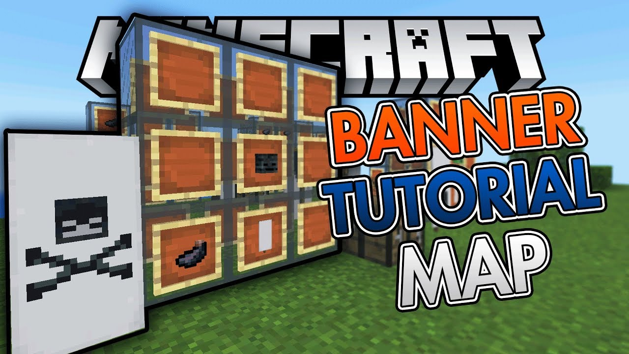 ⚡ THE BEST BANNER TUTORIAL MAP EVER! | 1 2 Beta | Minecraft