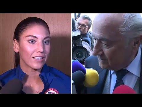 Hope Solo acusa Sepp Blatter de assédio sexual