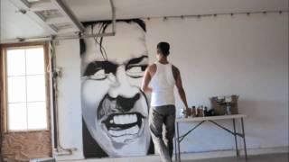 SEZE x Spray paint portrait of Jack Nicholson in The Shining