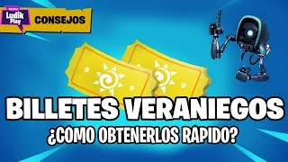 HOW TO FARM VERANIEGOS BILLETES? GET QUICK CALL TICKETS ? FORTNITE SAVE THE WORLD