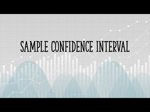Confidence interval for a sample