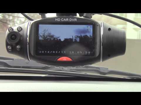 Камера за кола R310 TFT с GPS модул за проследяване и два обектива за HD AC47 14