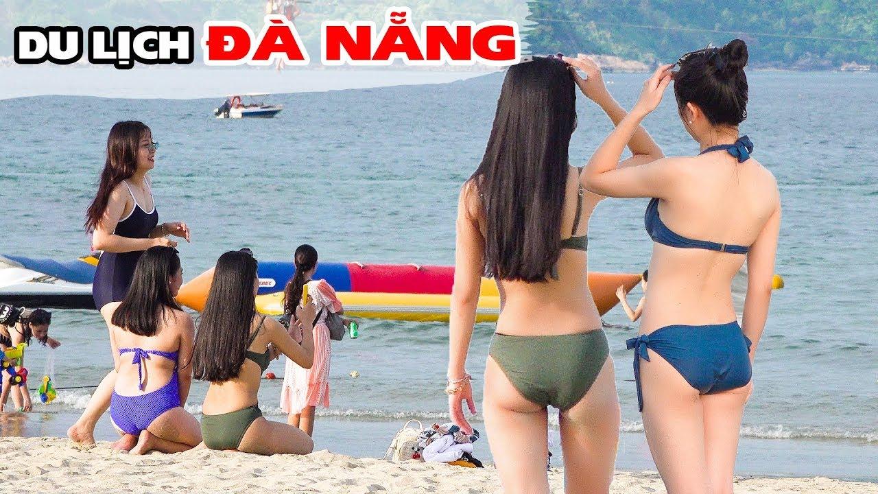 Bãi Biển Đà Nẵng chật kín du khách mùa nắng nóng | DU LỊCH ĐÀ NẴNG