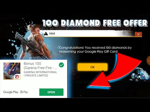 how to get free Diamond Free Fire diamond 💎 offer Google Play gift card🎁💳 free fire game