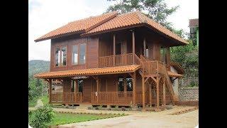 Desain Rumah Dari Kayu Ulin Unik Dan Moderen