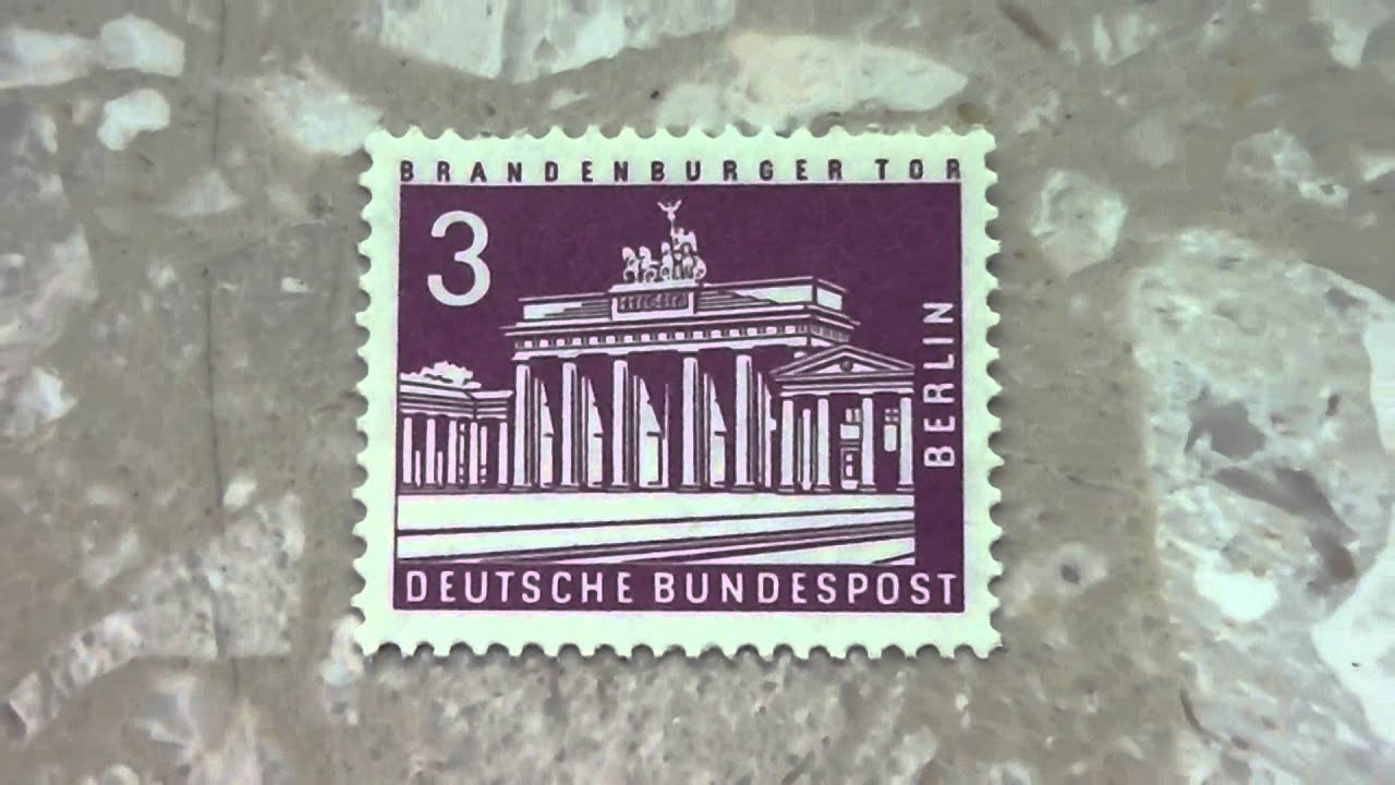 Brandenburger Tor Auf Alten Briefmarken Deutsche Bundespost Youtube