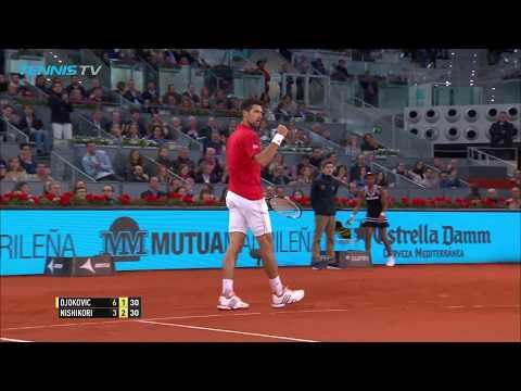 Novak Djokovic vs Kei Nishikori: Madrid 2016 semi-final best rallies