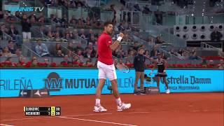Novak Djokovic vs Kei Nishikori: Madrid 2016 semi-final best rallies