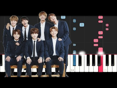BTS - Beautiful (Piano Tutorial)