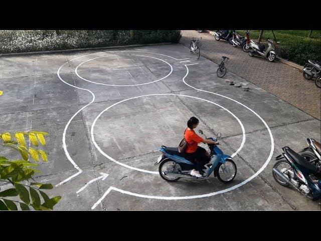 Tập vòng số 8 miễn phí tại Hà Nội - Thi bằng lái xe máy hạng A1