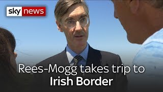Jacob Rees-Mogg visits Irish border