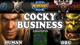 Grubby | Warcraft 3 TFT | 1.29 | HU v ORC on Amazonia - Cocky Business