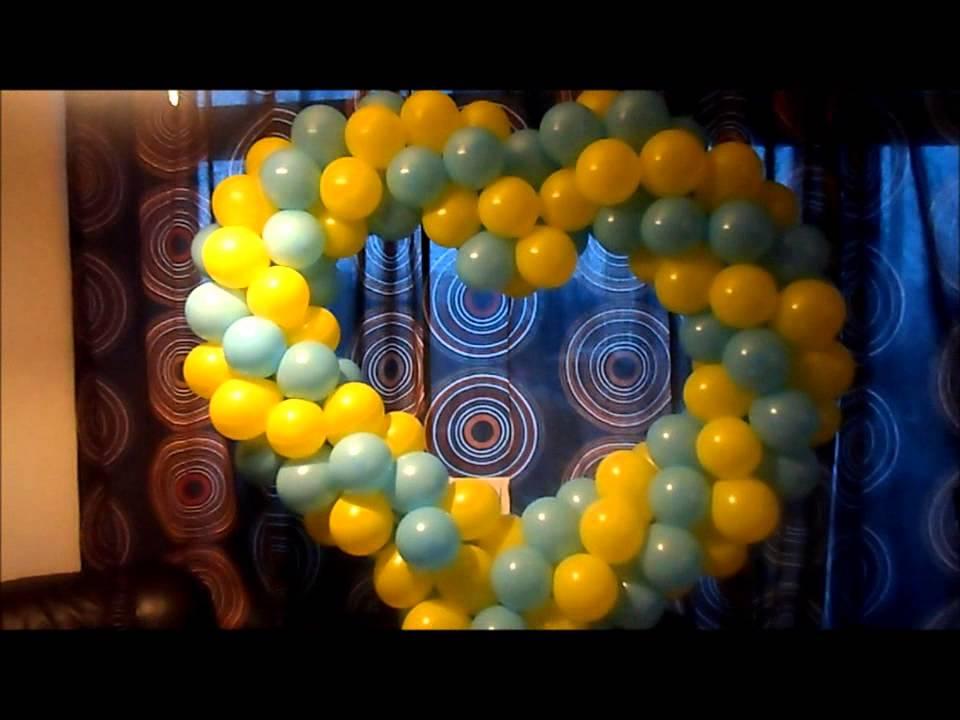 como hacer un corazon con globos - YouTube