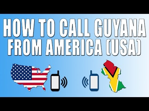 How To Call Guyana From America (USA)