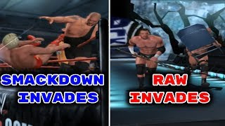 3 Epic Brand Invasion Moments In WWE Games