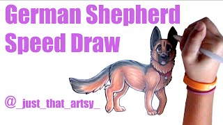 German Shepherd Speed Drawing