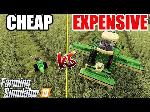 Farming Simulator 19 : EXPENSIVE vs CHEAP !!!
