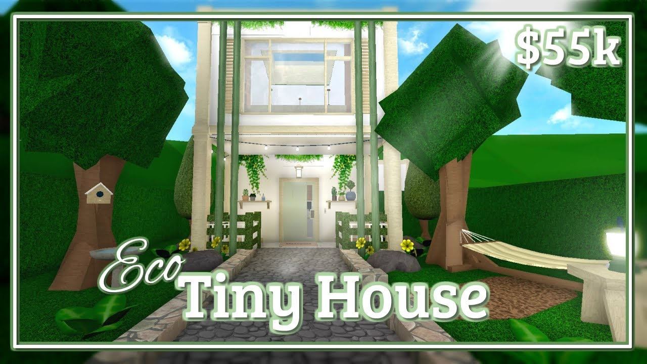 Bloxburg Eco Tiny House Speed Build Youtube