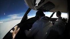 turbulence in flight cockpit view