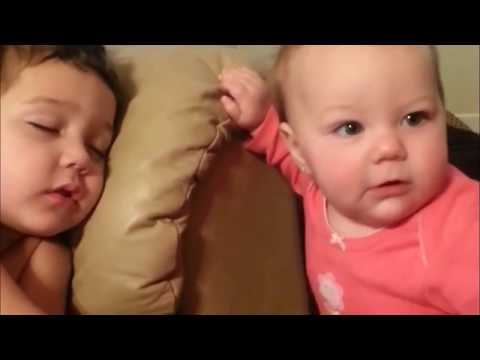 Cute Baby Wakes up Brother And Sister | Babies are so funny that make you laugh