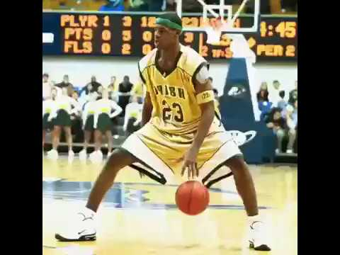 Extremely Rare Footage Of Lebron James Destroying High School Competition