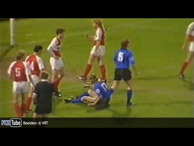1988-1989 - Jupiler Pro League - 29. SV Waregem - Club Brugge 4-2