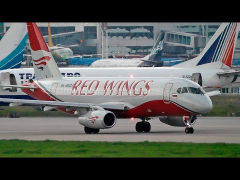 Сухой SuperJet 100 авиакомпании Red Wings / Аэропорт Домодедово