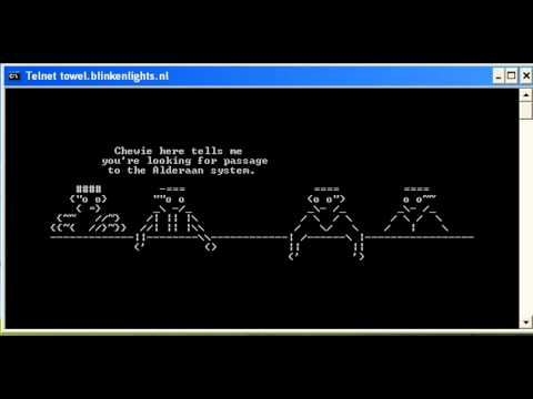 how to watch star wars on command prompt windows 10