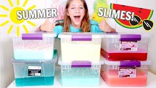 Making Watermelon Slime!! For Slime Shop Summer Restock