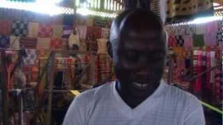 History of Kente Cloth Ghana Oct 2012