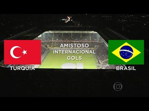 Gols - Turquia 0 x 4 Brasil - Amistoso Internacional - 12/11/2014