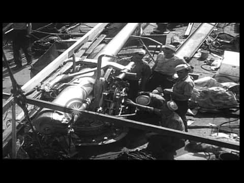 Exchange between Allies. American Destroyers for British Bases. U.S. Destroyers d...HD Stock Footage