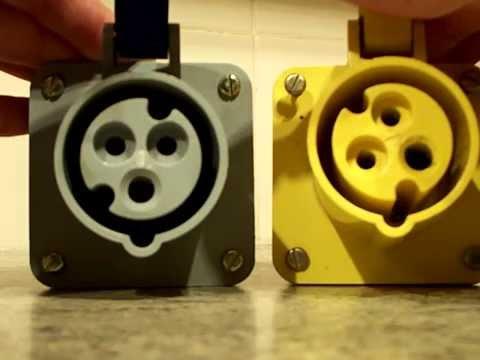 Plugs : Yellow 110v plugs, BS EN 60309-2