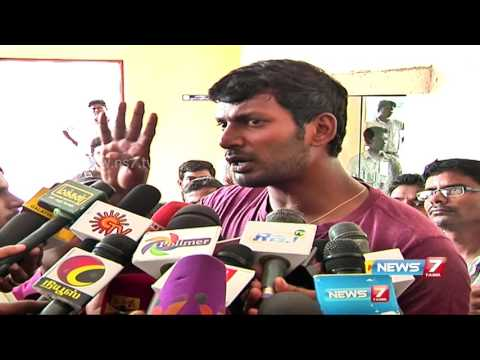 Actor Vishal alleges inaction by Producers