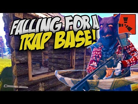 FALLING INTO A DECEIVING TRAP BASE! - Rust Solo Survival Gameplay
