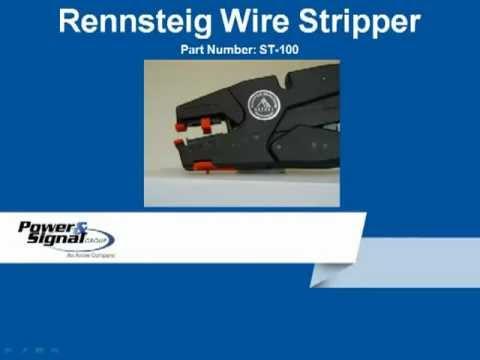 Rennsteig Wire Stripper Instructions Youtube