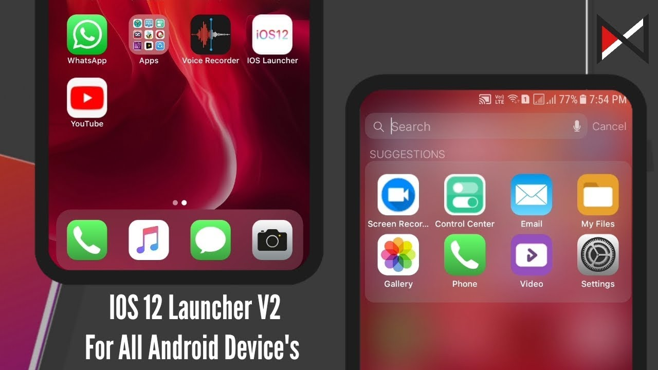 IOS 12 Launcher V2 | For All Android Device's