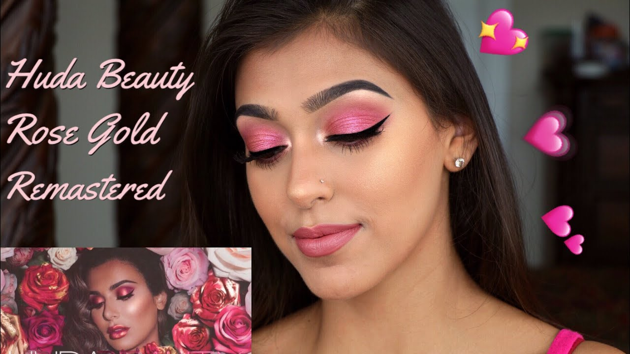 Huda Beauty Rose Gold Remastered Tutorial Chelseasmakeup Hmong Video