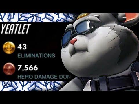 YEATLE #1 HAMMOND IN THE WORLD! 43 ELIMS! [ OVERWATCH SEASON 16 TOP 500 ]