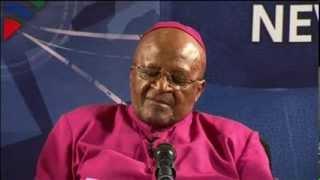 Archbishop of Cape Town Desmond Tutu Honors Nelson Mandela