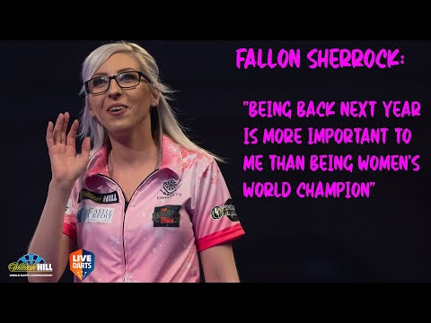 """Fallon Sherrock: """"Being back next year is more important to me than being women's World Champion"""""""
